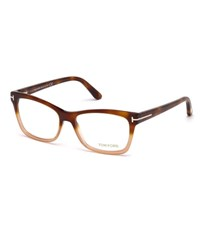 Tom Ford Square Two Tone Optical Frames Brown Orange Brown Orange