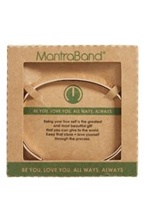 Mantraband Women's Be You Love You Engraved Cuff Rose Gold