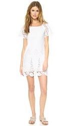 Liv Cap Sleeve Shift Dress White