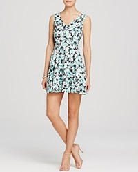 Aqua Dress Daisy Skater Multi