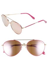 Lilly Pulitzer Isabelle 56Mm Polarized Metal Aviator Sunglasses Pink Pink Pink Pink