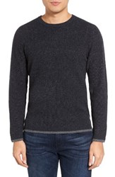 Velvet By Graham And Spencer Men's Jagger01 Tipped Cashmere Sweater