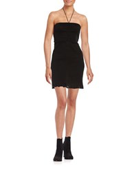 Free People Textured Knit Strapless Dress Black