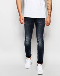 Superdry Dusted Black Jeans In Skinny Fit Dustedblackblue
