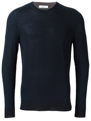 Valentino Crew Neck Jumper Blue