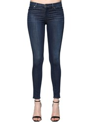 J Brand Super Skinny Mid Rise Denim Jeans Dark Blue