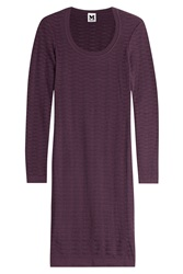M Missoni Crochet Knit Dress Purple