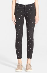 Women's Stella Mccartney Polka Dot Skinny Ankle Grazer Jeans
