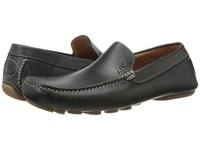 Armani Jeans Leather Loafer Driver Black Men's Shoes