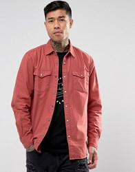 Pull And Bear Pullandbear Western Shirt In Red Red