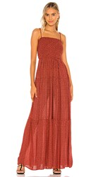 Free People Little Of Your Love Jumpsuit In Red. Red Combo