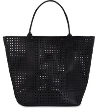 Seafolly Carried Away Faux Leather Tote Black