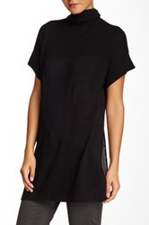 Cullen Rib Detail Cashmere Tunic Sweater Black