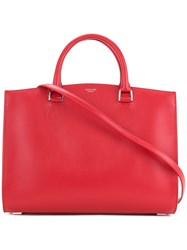 Rochas Wide Tote Bag Women Calf Leather One Size Red