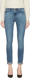 Nudie Jeans Blue Faded High Kai Jeans