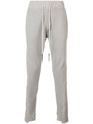 Mostly Heard Rarely Seen Asymmetrical Seam Track Trousers Green