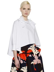 Delpozo Embellished Flared Cotton Poplin Shirt