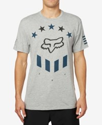Fox Men's Barren Premium Logo Print T Shirt Heather Grey
