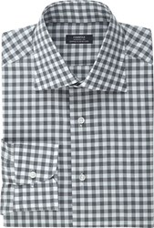 Fairfax Gingham Poplin Shirt Grey