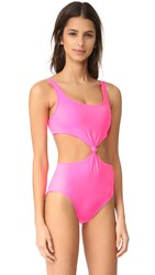 Solid And Striped The Bella One Piece Hot Pink