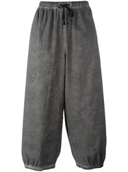 Unconditional Loose Fit Drawstring Trousers Grey