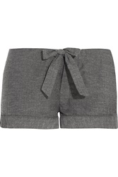 Bodas Montana Herringbone Brushed Cotton Pajama Shorts