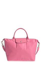 Longchamp 'Medium Le Pliage Neo' Nylon Tote Pink Peony