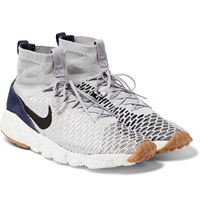 Nike Air Footscape Magista Flyknit High Top Sneakers Gray