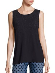 Current Elliott Cotton Glitter Muscle Tee Washed Black With Rose Gold Glitter Spray