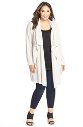 Plus Size Women's Nic Zoe 'Great Lengths' Drape Front Cardigan