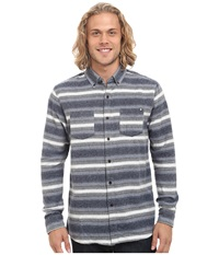 Rip Curl Bodie Long Sleeve Flannel Denim Blue Men's Clothing