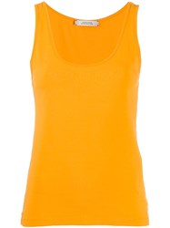 Dorothee Schumacher Scoop Neck Sleeveless Top Yellow
