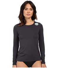 Rip Curl Whitewash Loose Fit Long Sleeve Charcoal Women's Swimwear Gray
