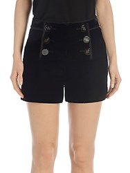 Emilio Pucci Velvet Button Front Shorts Black