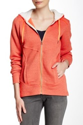 Columbia Greater Pike And Pine Faux Shearling Trim Hoodie Orange