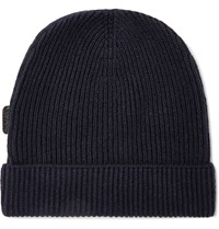 Tom Ford Ribbed Cashmere Beanie Blue