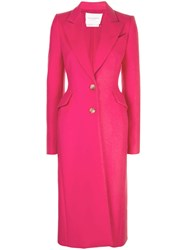 Carolina Herrera Single Breasted Coat Pink
