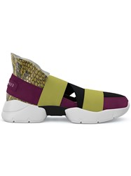 Emilio Pucci City Up Slip On Sneakers Yellow And Orange