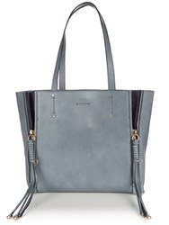 Chloe Milo Medium Leather Tote Light Blue
