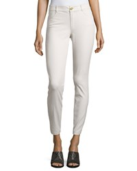 Minnie Rose Skinny Stretch Twill Ankle Pants Concrete