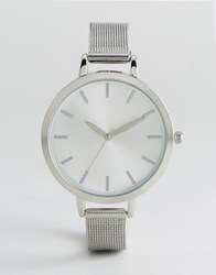 New Look Clean Mesh Strap Watch Silver