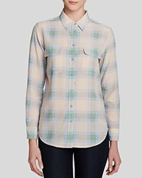 Equipment Slim Signature Plaid Vintage Wash Shirt Chalk Pink Chambray Multi