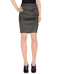 Galliano Skirts Knee Length Skirts Women Military Green