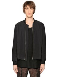 The Kooples Fluid Nylon Bomber Jacket