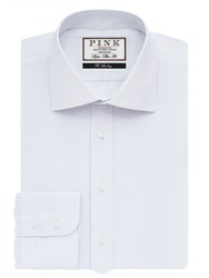 Thomas Pink Men's Vernon Check Super Slim Fit Bc White