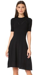 Kenzo Knee Length Fit And Flare Dress Black