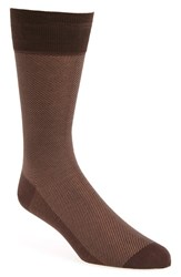 Men's John W. Nordstrom Zigzag Socks Brown Seal Taupe