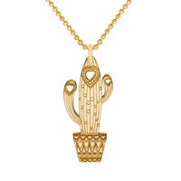 Cartergore Gold Carrie The Cactus Pendant Necklace