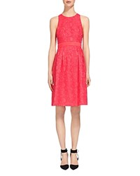 Whistles Bonded Lace Dress Pink