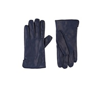 Barneys New York Cashmere Lined Gloves Navy